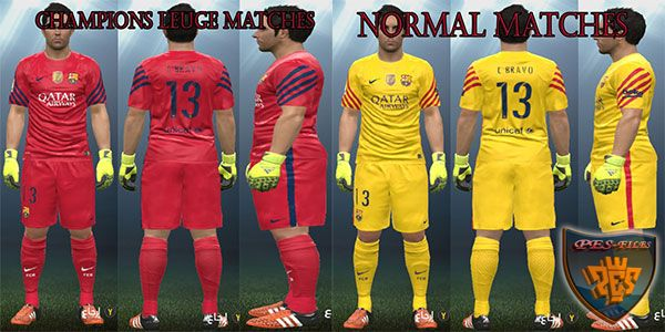 FC Barcelona New GK Kits (UCL + DEF Matches)