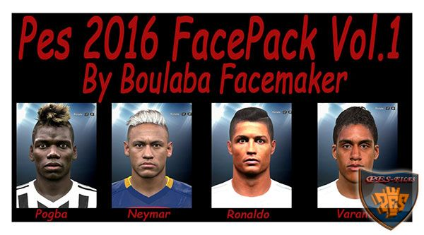 PES 2016 FacePack Vol. 1 By Boulbaba Facemaker