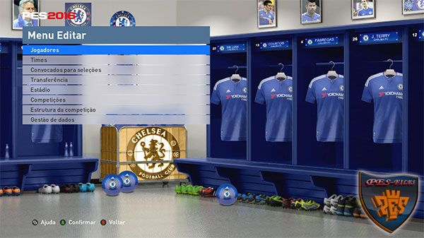 PES 2016 Chelsea FC Locker Room by MES Modder