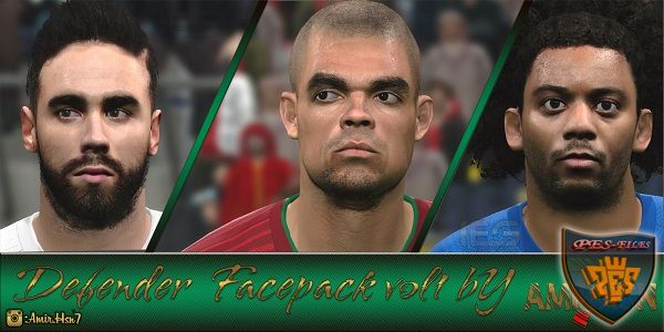 PES 2016 Defender Facepack v1.0 By Amir.Hsn7