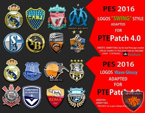 PES 2016 Logos Packs for PTEPatch 4.0 by PTEPatch