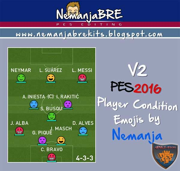 PES 2016 Player Condition Emojis Version 2 by Nemanja