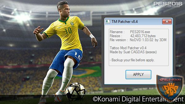 PES 2016 TM Patcher v0.4 by sxsxsx