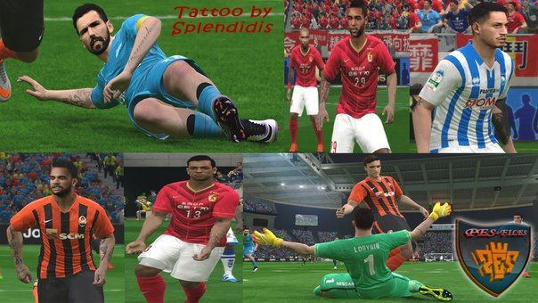 Pes 2016 New Tattoo Pack 209+ V.1.0 by Splendidis