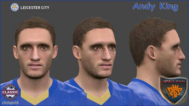 PES 2016 Andy King Face by SantanAji