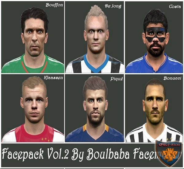FacePack PES 2016 Vol. 2 By Boulbaba Facemaker