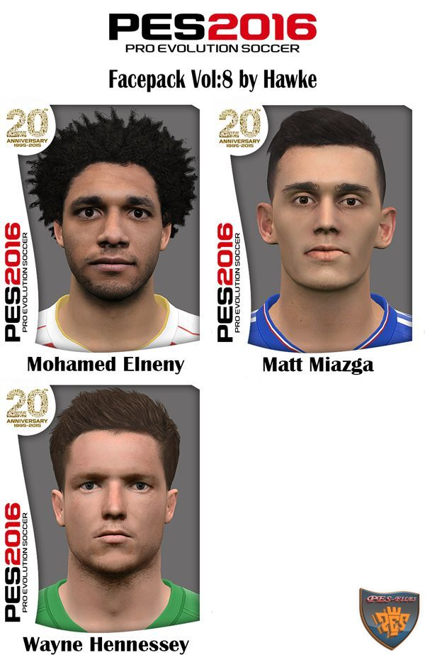PES 2016 Facepack Vol:8 by Hawke