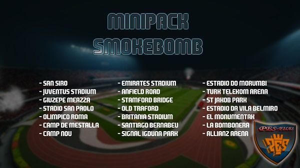 PES 2016 Minipack Smokebomb Stadiums by AryJanuar