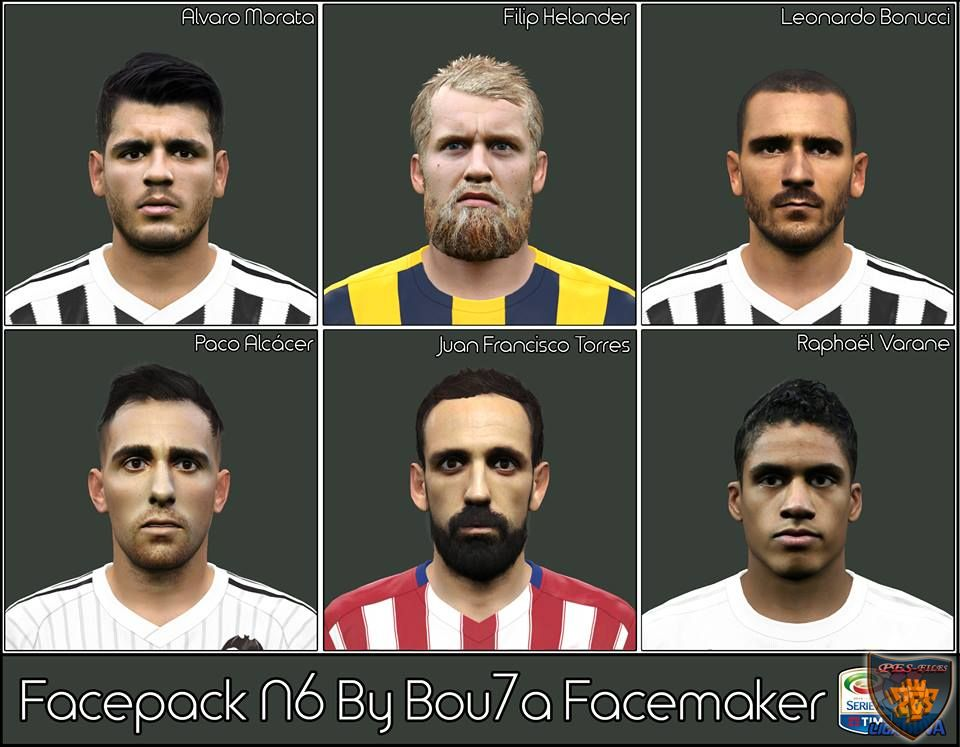 Pes 2016 Facepack N6 By Bou7a Facemaker