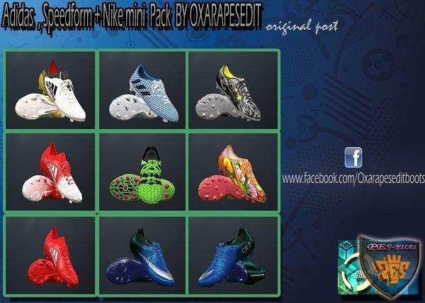PES 2016 Addidas, Nike, Speedform Pack by oxarapesedit