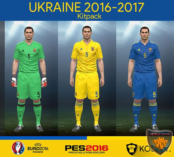 PES 2016 Ukraine 2016-2017 Kit Pack by Kolia V