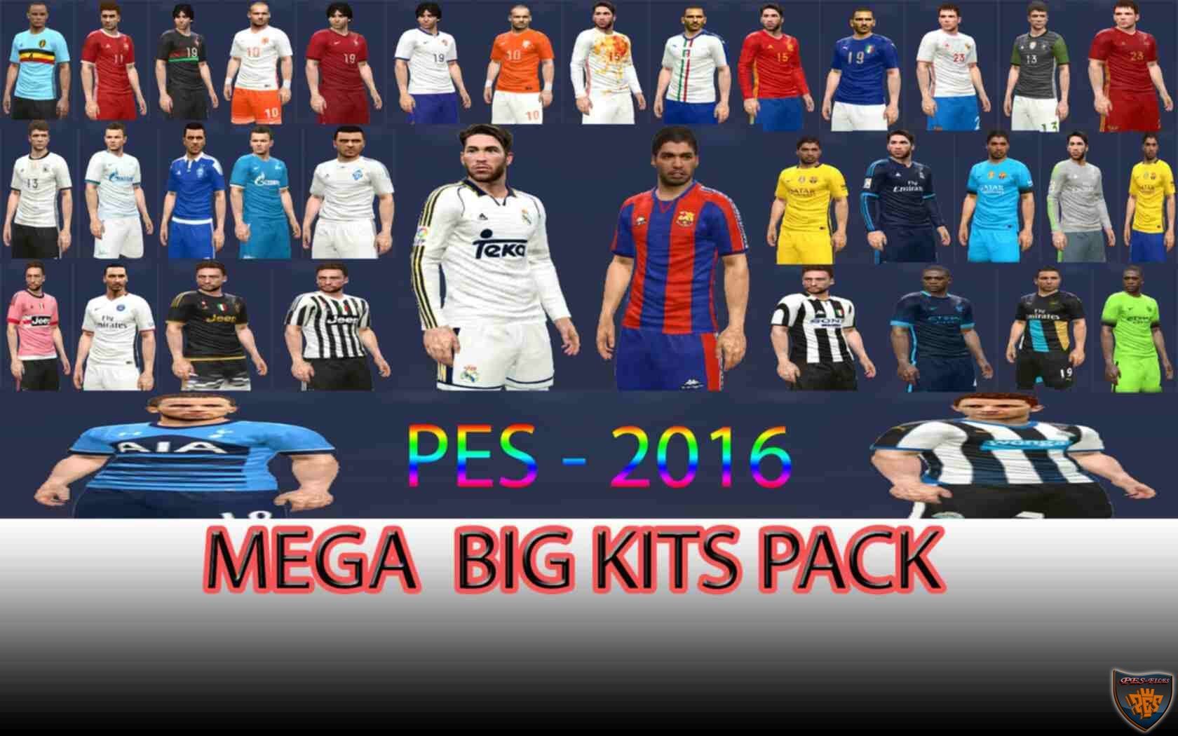 Pes 2016 Mega Big Pack Kits by DzhonX