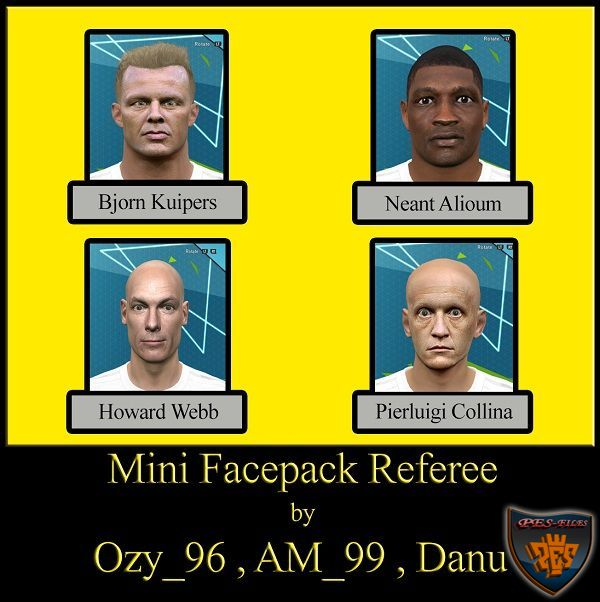 PES 2016 Mini Referee Facepack by Ozy_96 PES MOD
