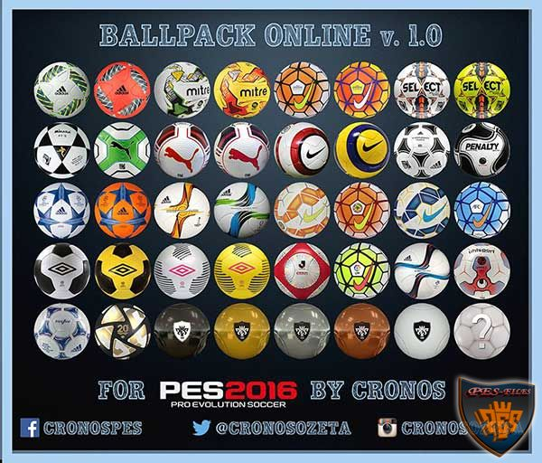 Ballpack Online v.1.0 for PES 2016 by Cronos