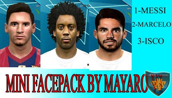 PES 2016 Mini Face Pack v1 (Messi, Marcelo, Isco)