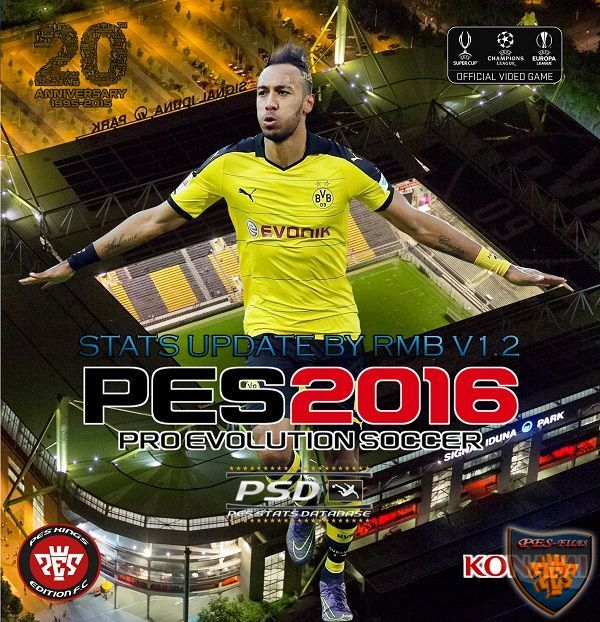 PES 2016 PSD Stats for PTE 4.1 (V1.2) by RMB