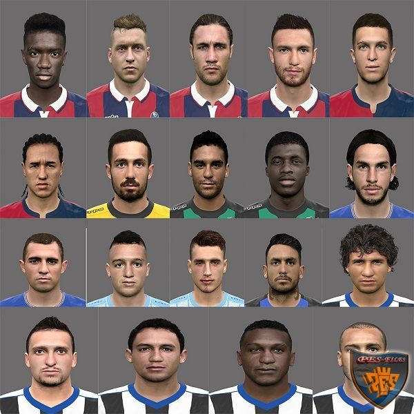 PES 2016 Faces Serie A Pack by Rednik