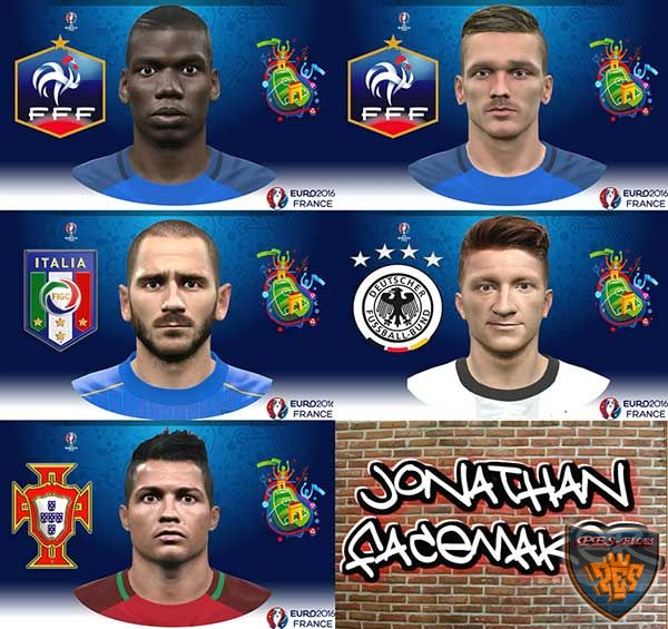 PES 2016 Road to Euro 2016 Facepack