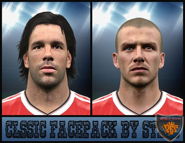Pes 2016 Beckham and Van Nistelrooy Face