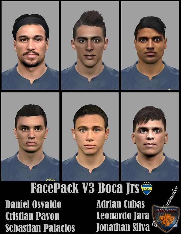 PES 2016 Facepack V3 Boca Juniors by CR7Facemaker