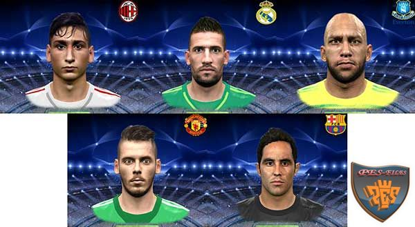 PES 2016 Goalkeepers Face Pack