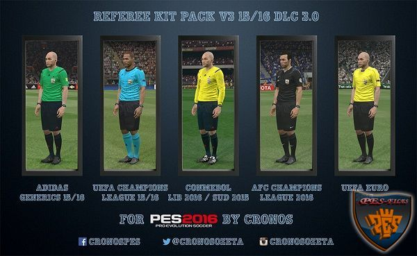 PES 2016 Referee Kit Pack v3 15/16 DLC 3.0