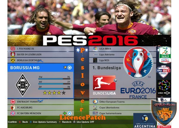 License Patch PES 2016 AIO Full BundesLiga by peslover