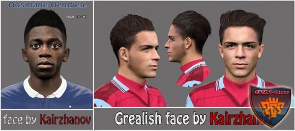 PES 2016 Face Ousmane Dembel and Grealish