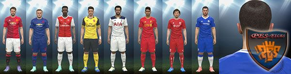 PES 2016 Premier League Kits Pack 16-17