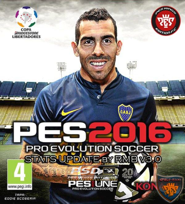 PES 2016 PSD Stats for PTE 5.1 by RMB (V3.0)