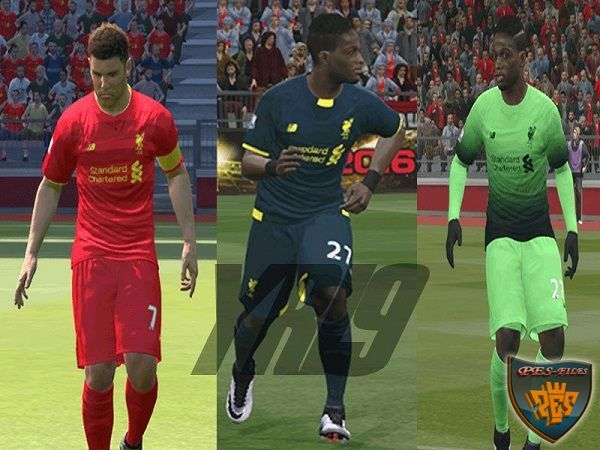 PES 2016 Liverpool FC Leaked New Kits 2016/17 by YR19