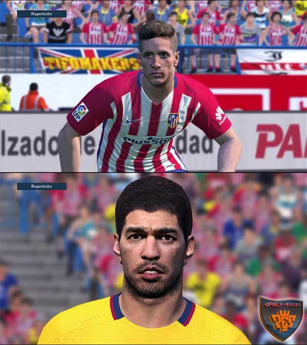 Pes 2016 Torres and Suarez Face