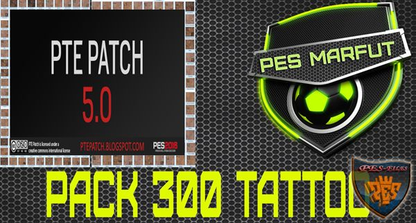 PES 2016 Tattoo Pack 300 Reset PTE Patch 5.0