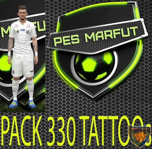 PES 2016 TATTOO pack 330 by Marcéu