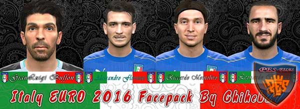 PES 2016 Italy Euro 2016 Face Pack by Chiheb27