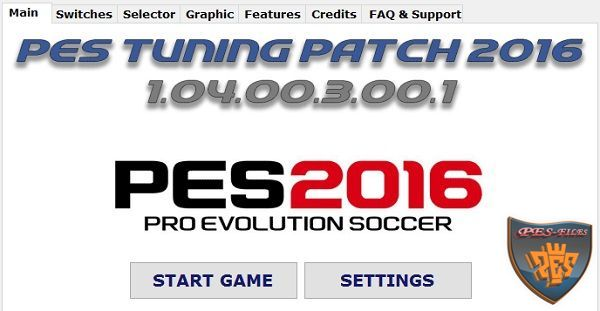 PES Tuning Patch 2016 v1.04.00.3.00.1 Released 02.05.2016