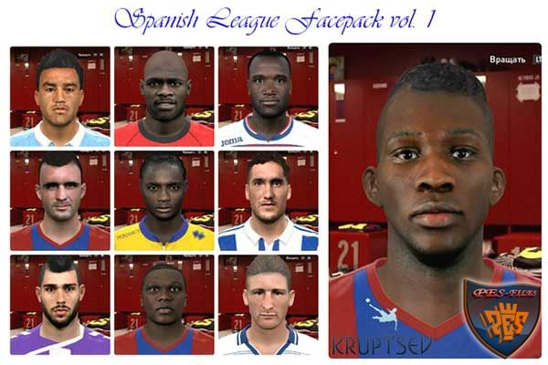 Pes 2016 Spanish League Facepack vol. 1