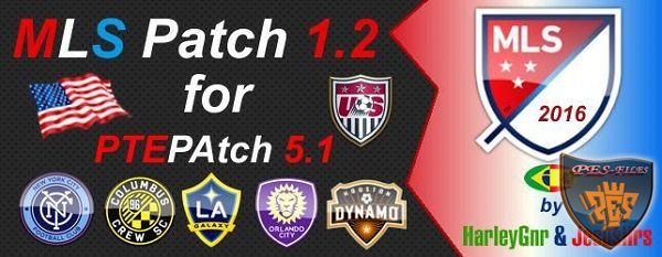 PES 2016 MLS Patch V1.2 For PTEPatch 5.1
