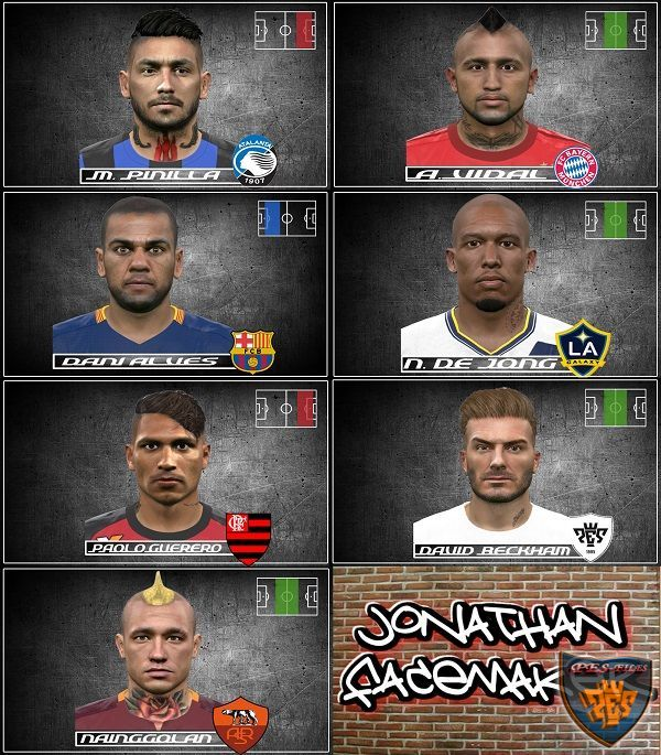 PES 2016 Neck Tattoo FacePack by Jonathan facemaker