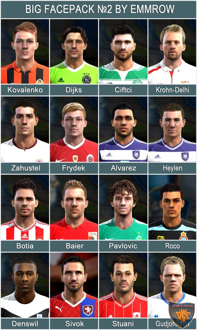 Pes 2013 Big Facepack №2 by Emmrow