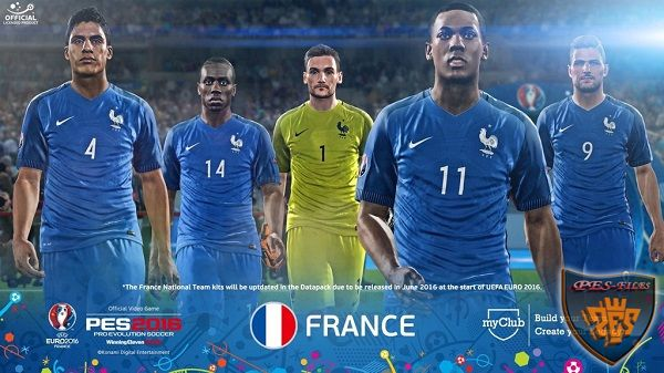 PES 2016 FacePack France EURO 2016 23 Players by Tran Ngoc