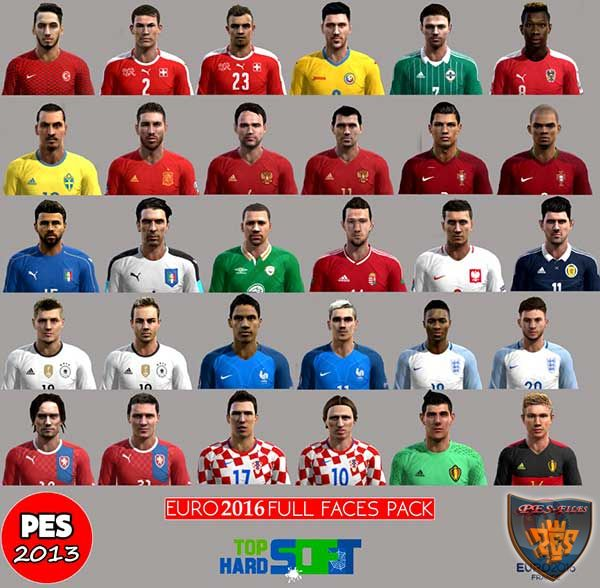 PES 2013 Faces Pack Euro 2016 All Teams