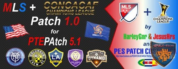PES 2016 MLS & CONCACAF Patch V1.0 for PTE Patch 5.1