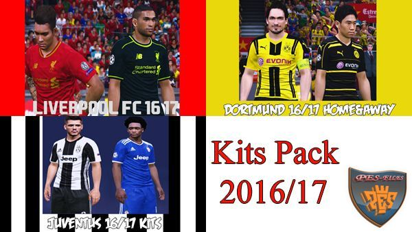 PES 2016 Kits Pack 2016/17 by akmal