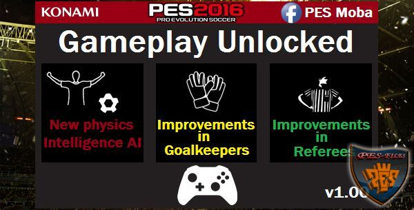 PES 2016 Gameplay Unlocked v1.00 by Moba
