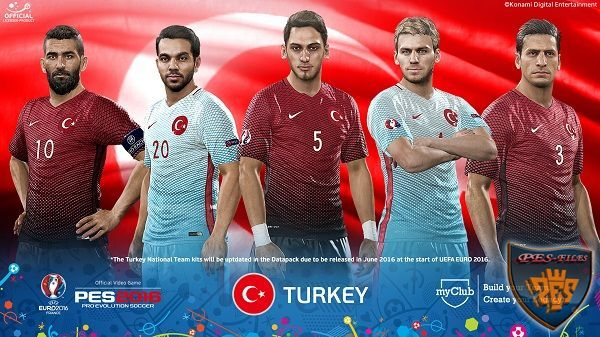 PES 2016 FacePack Turkey EURO 2016 26 Players