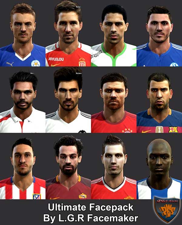 Ultimate Facepack PES 2013 by L.G.R Facemaker