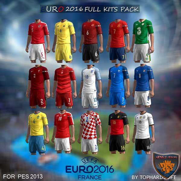 PES 2013 Euro 16 Full Kits Pack (24 N.Teams)