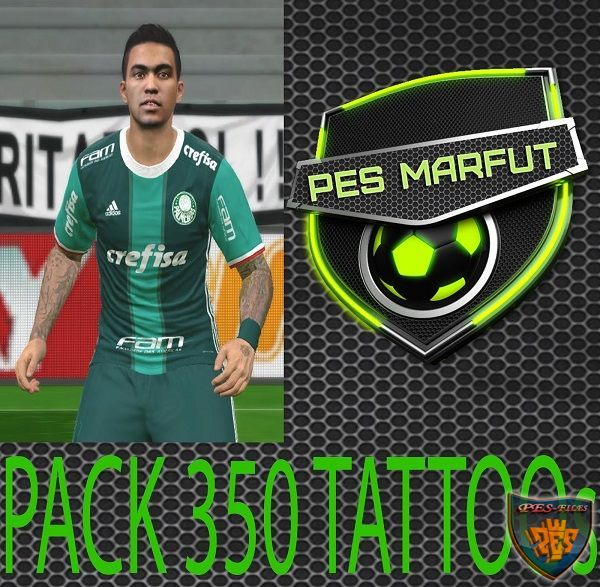 PES 2016 Tattoo Pack 350 by Marceu