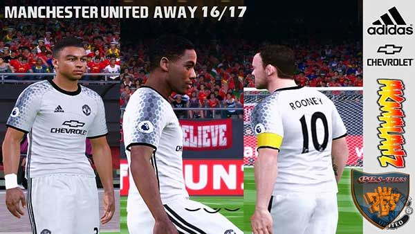 PES 2016 Manchester United Away Kits 16/17